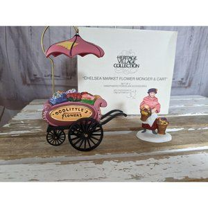 Dept 56 58157 Chelsea market flower monger cart se